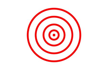 red target icon on white