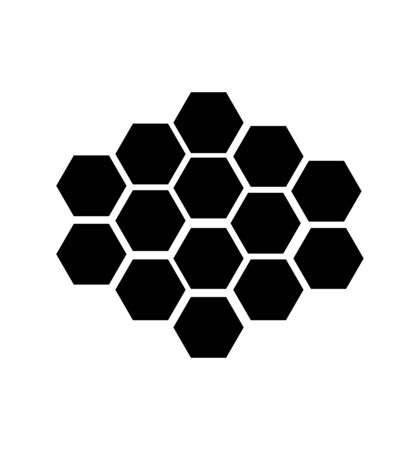 set of hexagons on white