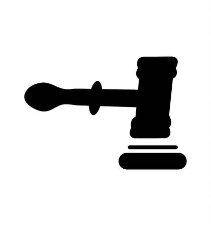 judge mallett on white Foto de archivo - 132003620