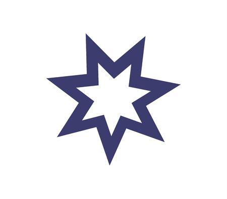Blue star icon on white Ilustracja