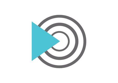 web technology arrow target icon on white