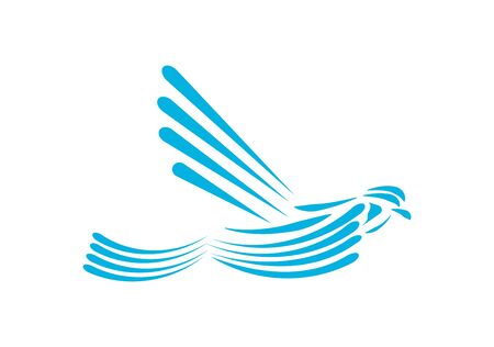 blue dove design on white