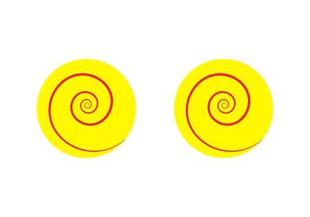 set of hypnotic eyes on white