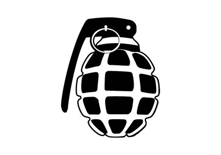 hand grenade icon on white