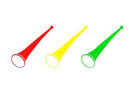 Vuvuzelas icon on white Illusztráció