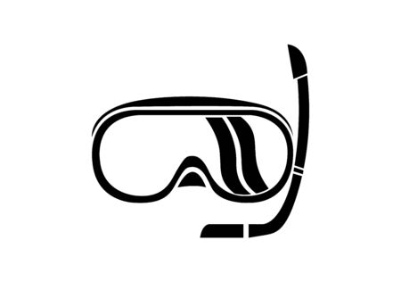 scuba diving mask icon on white Ilustrace