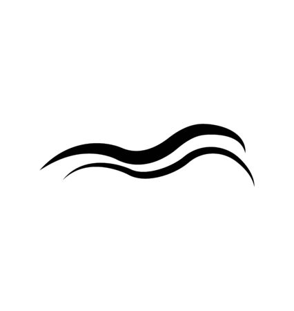 abstract sea ocean wave icon on white