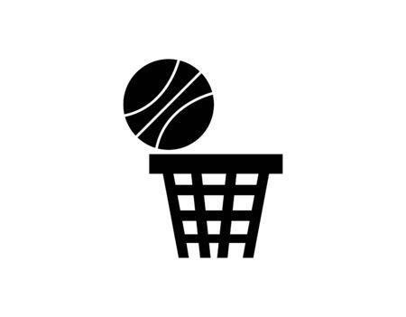 basketball hoop icon on white Ilustração