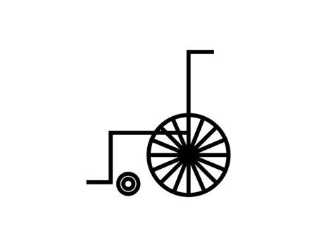 wheelchair icon on white Ilustração