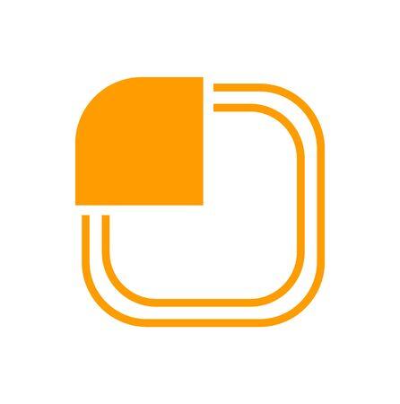 orange abstract logo on white Ilustração