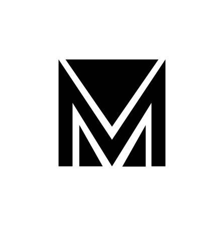 corporate business M logo on white Ilustração