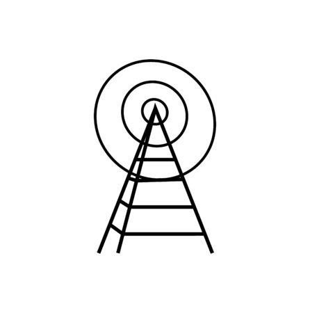 radio tower icon on white