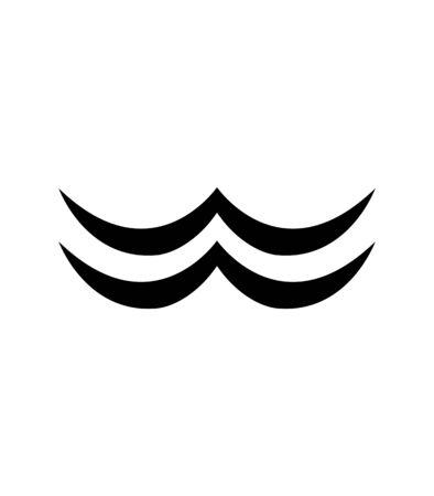 abstract moustache logo on white