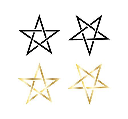 Pentagram icons on white