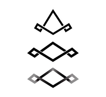 abstract business finance logo on white Ilustração