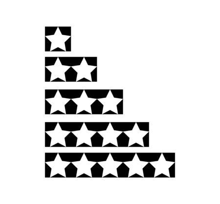 rating stars on white Ilustração