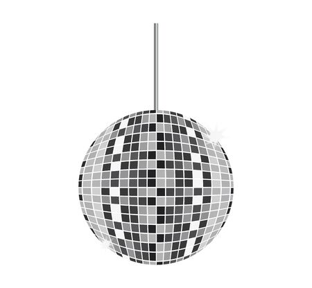 disco ball on white