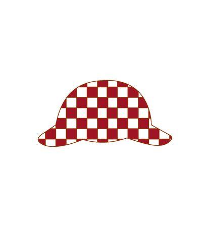 sherlock hat on white Ilustração