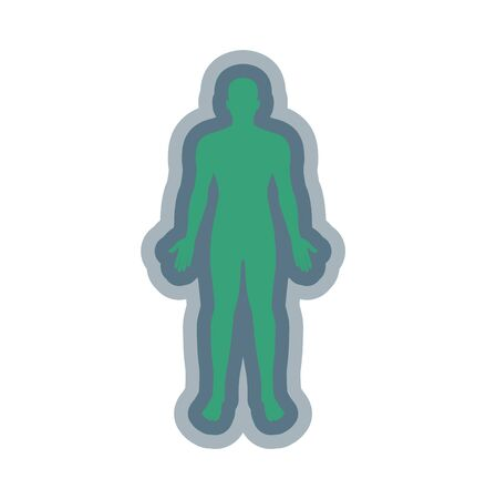 person with aura silhouette on white background
