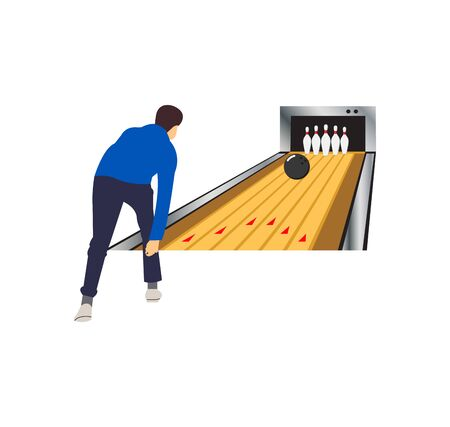 man bowling in the lane