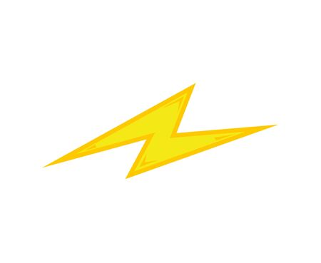yellow bolt flash icon with effects isolated on white background Vectores