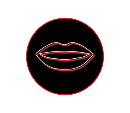 night club lips isolated