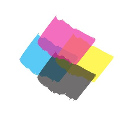 cmyk icon sign isolated