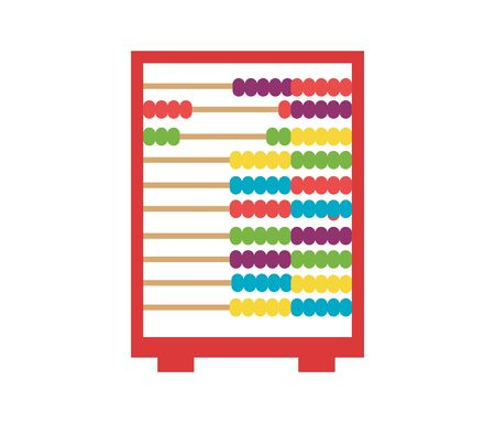 old colorful abacus icon isolated