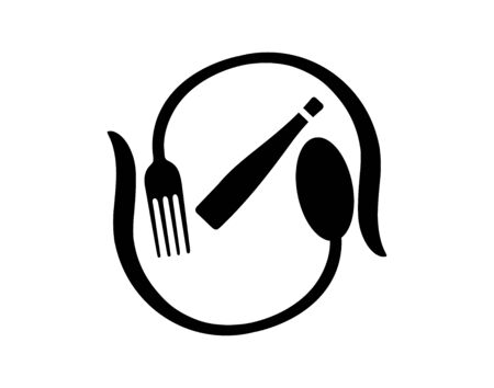 cutlery food bottle icon isolated Vectores