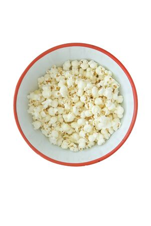 bowl of popcorn isolated Banco de Imagens