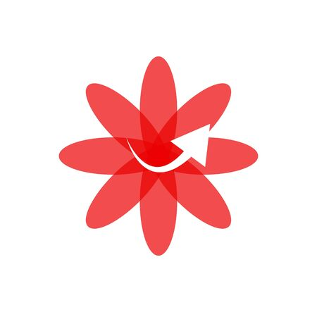 arrow flower icon isolated