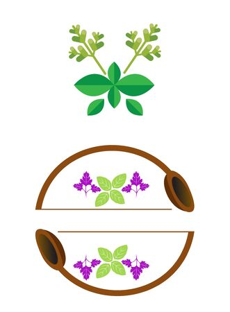 culinary herbs logo icon isolated