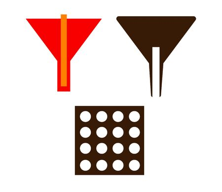 cone loader icon isolated