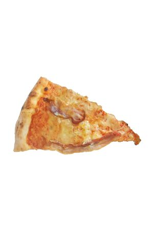 slice of pizza isolated