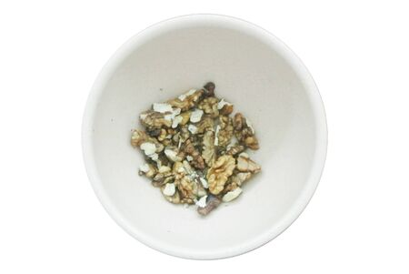 nuts in plate isolated