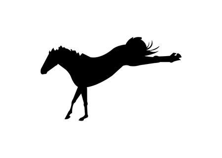 prouncing horse black silhouette vector isolated Ilustrace