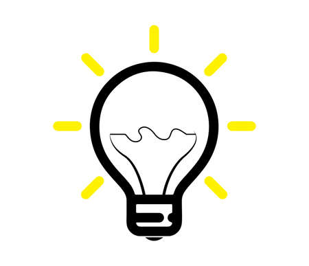 bright lightbulb vector icon isolated Ilustrace