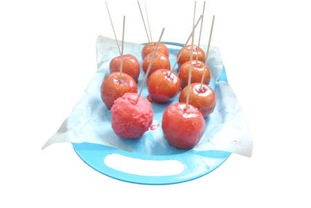 sugar apples on plate isolated