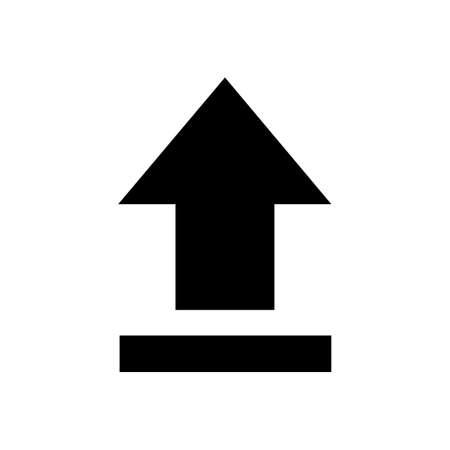 black upload icon isolated
