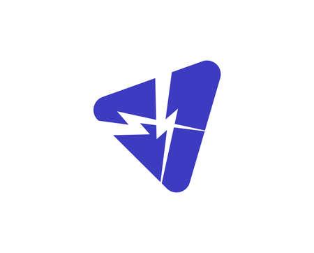 blue thunder cross icon isolated