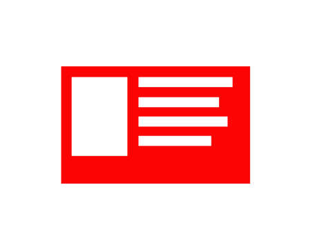 red id card icon isolated Banco de Imagens - 152444727