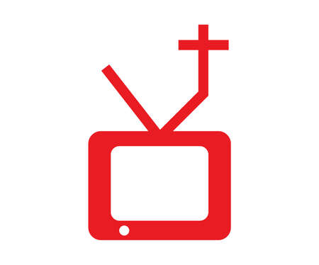 red tv box cross icon