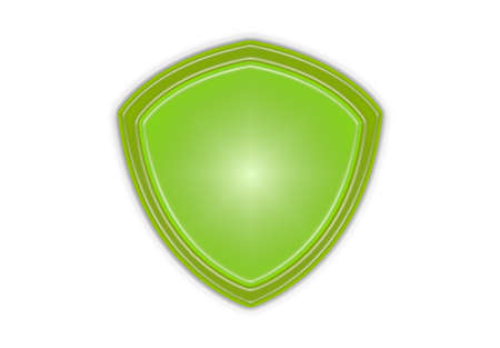 green eco shield icon isolated
