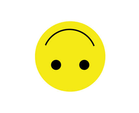 upside smiley face emoji icon isolated