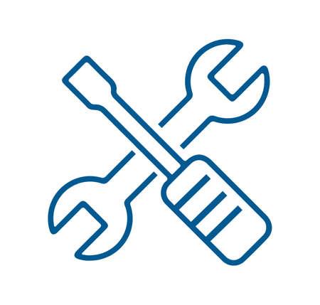 wrench and screwdriver icon Ilustração