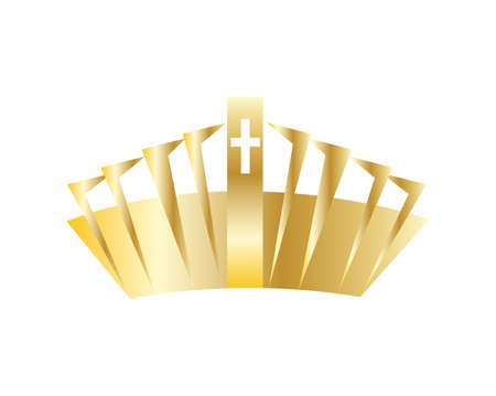golden crown icon isolated Banco de Imagens - 154161389