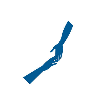 hands reaching out icon isolated Ilustração