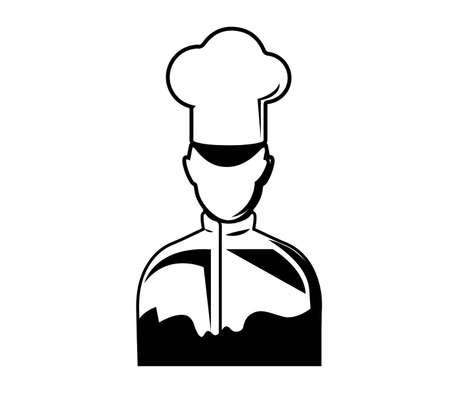 chef icon vector isolated Ilustração