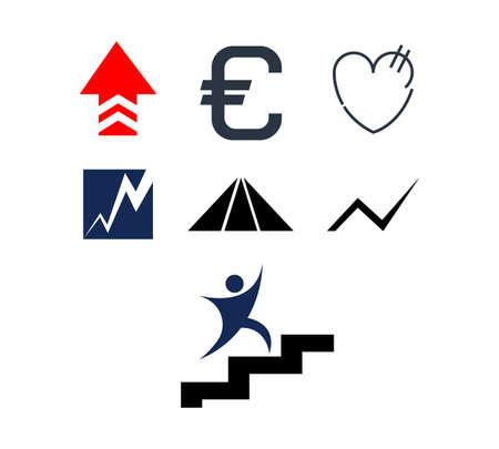 set of economy icons isolated
