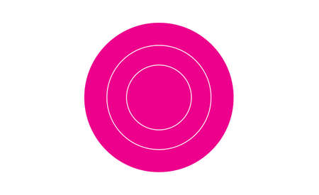 magenta target icon isolated